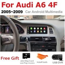 Tbbctee rádio automotivo, android, audi a6 4f 2005 2006 2007 2008 mmi 2g 3g, navegação gps reprodutor multimídia automotivo, android