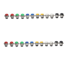 16mm 1NO Colourful Momentary High Head Plastic Push Button Switch Pin 2 Terminals 1pcs стоимость