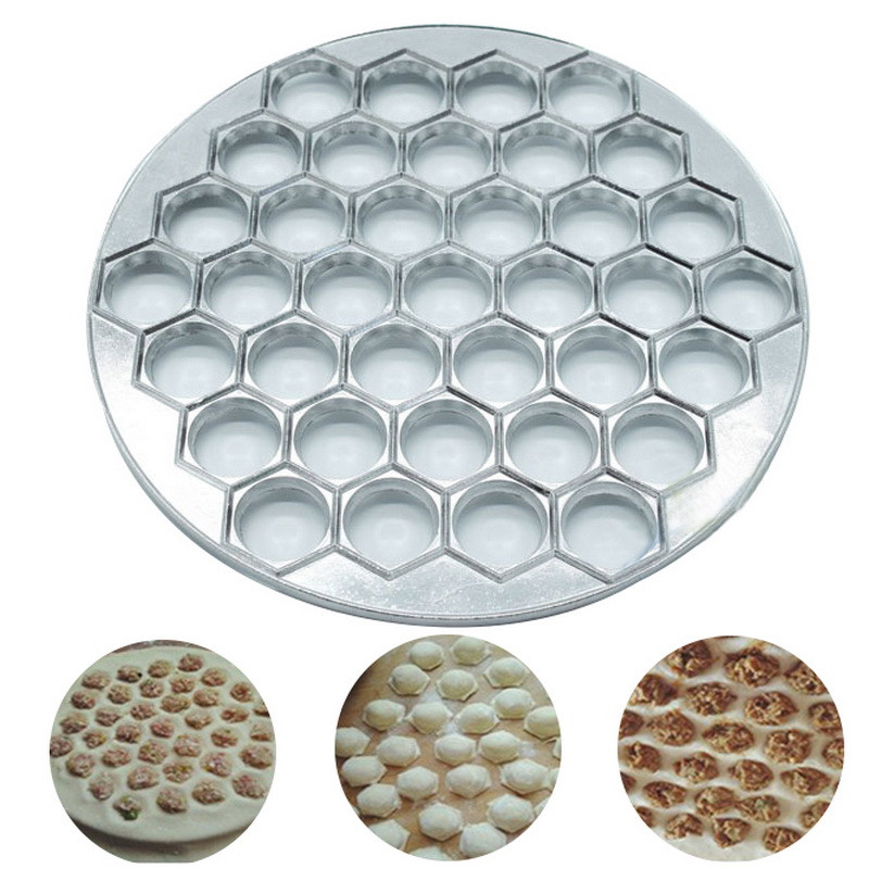 37 Holes Dumpling Mould Dumplings Maker Ravioli Aluminum Mold Pelmeni Dumplings Kitchen DIY Tools Make Pastry Dumpling