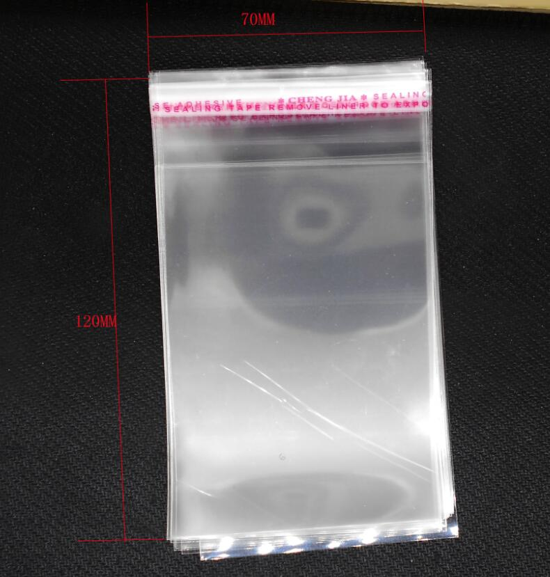 Beads 200PCs Clear Self Adhesive Seal Plastic Bags 7x12cm