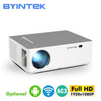 MOON K20 1920*1080 Full HD BYINTEK Smart Android Wifi soporte AC3 300 pulgadas proyector de vídeo LED con USB para cine en casa