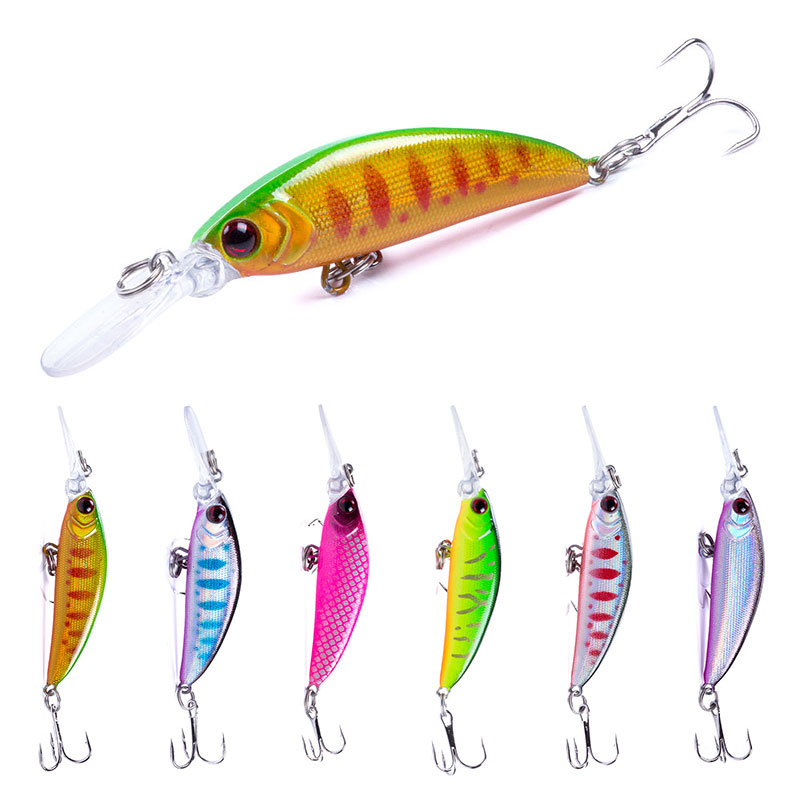 Hengjia Minnow Hard-Bait Fishing-Lure Sinking Tackle 3d-Eyes Artificial for 1PCS 7CM/6G