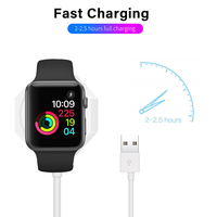 2 in 1 Wireless Charger for Apple Watch Series 1 2 3 4 USB Magnetic Charging Cable 3.3 feet/1meter for iPhone X XR XS 8 8 Plus 3