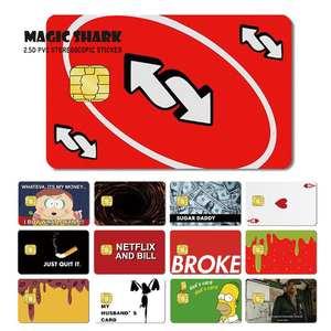 Sticker Film-Case Skin Cover Poker-Game Ice-Cream Debit-Card Shark-Broke Magic Credit