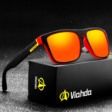 Viahda 2020 New Brand Squared Polarized Sunglasses Glasses Men