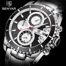 BENYAR Top Brands Luxury Fashion Business Watch Men Quartz Wristwatches Mens Waterproof Watches Male Clock relogio masculino