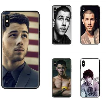Soft Silicone TPU Black Fashion Cell Case Cool Man Nick Jonas For Xiaomi Mi Note A1 A2 A3 5 5s 6 8 9 10 SE Lite Pro Ultra image