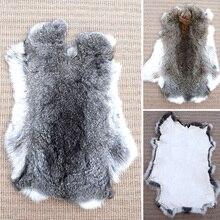 Ткань из натурального кроличьего меха, мягкая пушистая зимняя теплая кожа кролика для рукоделия, одежды, шитья одежды, украшения