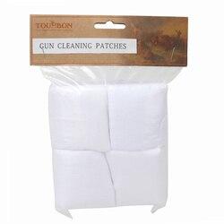 Tourbon 300 pièces coton pistolet de nettoyage patchs pour pistolet et fusil 2-1/4