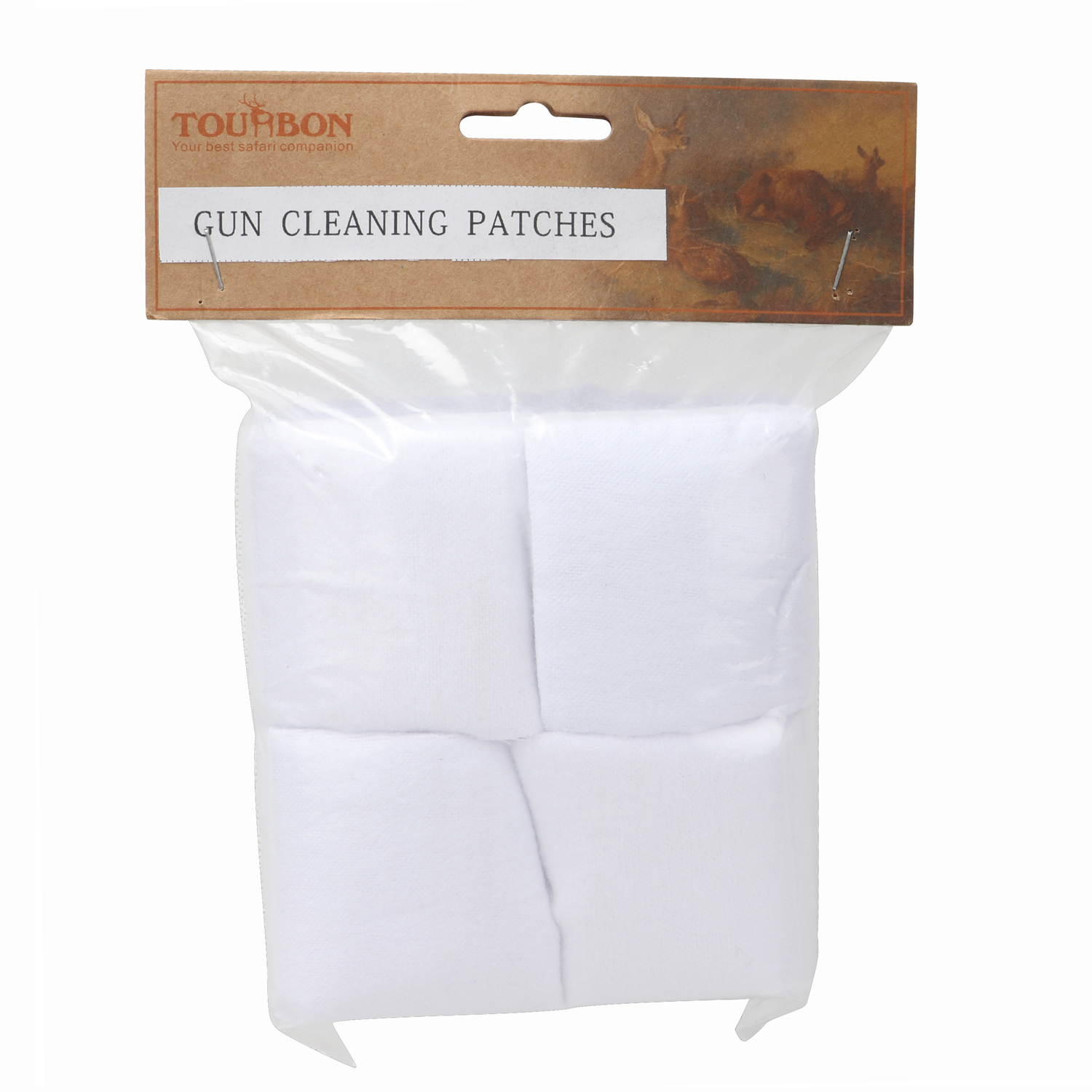 "Tourbon 300Pcs Cotton Gun Cleaning Patches For Pistol & Rifle 2-1/4"" X 2-1/4"" Shotgun Kits"