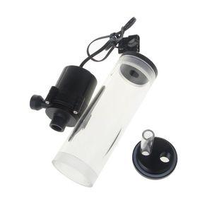 Image 5 - Thread XHC8+160mm Cylinder Computer Water Tank 12V 19W PC Water Cooling SC600 Pump Radiator Waterblock Holder Kit For CPU 10166