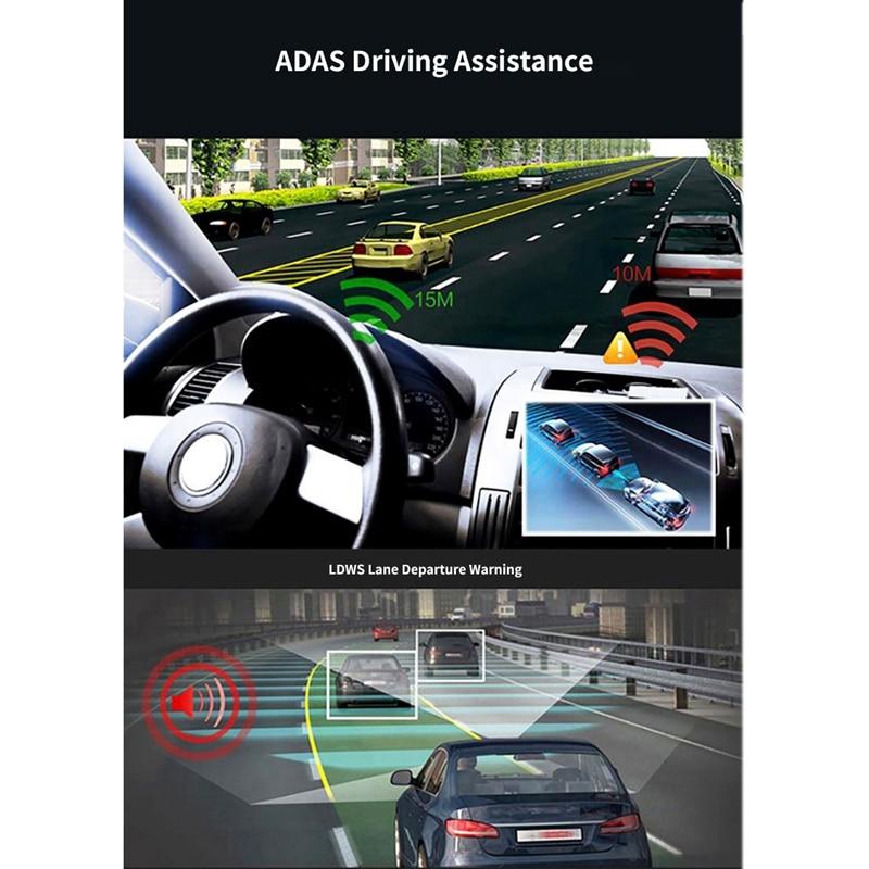 12 pouces Android 8.1 Adas Dash Cam voiture Dvr caméra Gps Navi Bluetooth Fhd enregistreur vidéo 4G Wifi Dvr miroir - 2