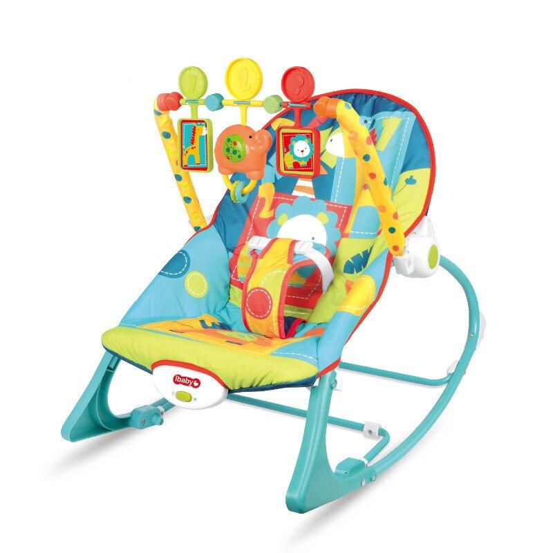 Baby Rocker Bouncer Toddler Music Sleeping Baby Rocking Swing Chair Newborn Gifts Toy Folding Baby Crib 0-3years old
