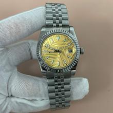 Automatyczny zegarek szkiełko mineralne 36mm bransoleta ze stali nierdzewnej 316L dial blue luminous nadaje się do japońskiego ruchu 8215 DG56 tanie tanio luminous hands 5Bar CN (pochodzenie) Zapięcie bransolety Moda casual Samoczynny naciąg 22cm STAINLESS STEEL ROUND 20mm