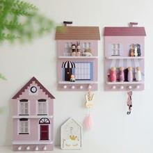 Деревянные стеллажи для хранения в форме дома креативные Ретро
