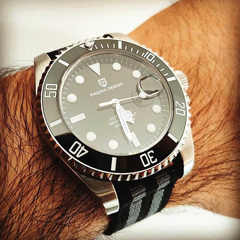 PAGANI Design Mens Automatic Watches Fashion Luxury Mechanical Wristwatch Stainless Steel Waterproof Watch Men Relogio Masculino