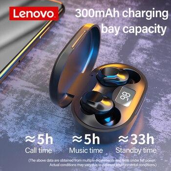 אוזניות סטריאו בלוטוס Lenovo עם תיבת טעינה בעלת חיווי לבטריה 2