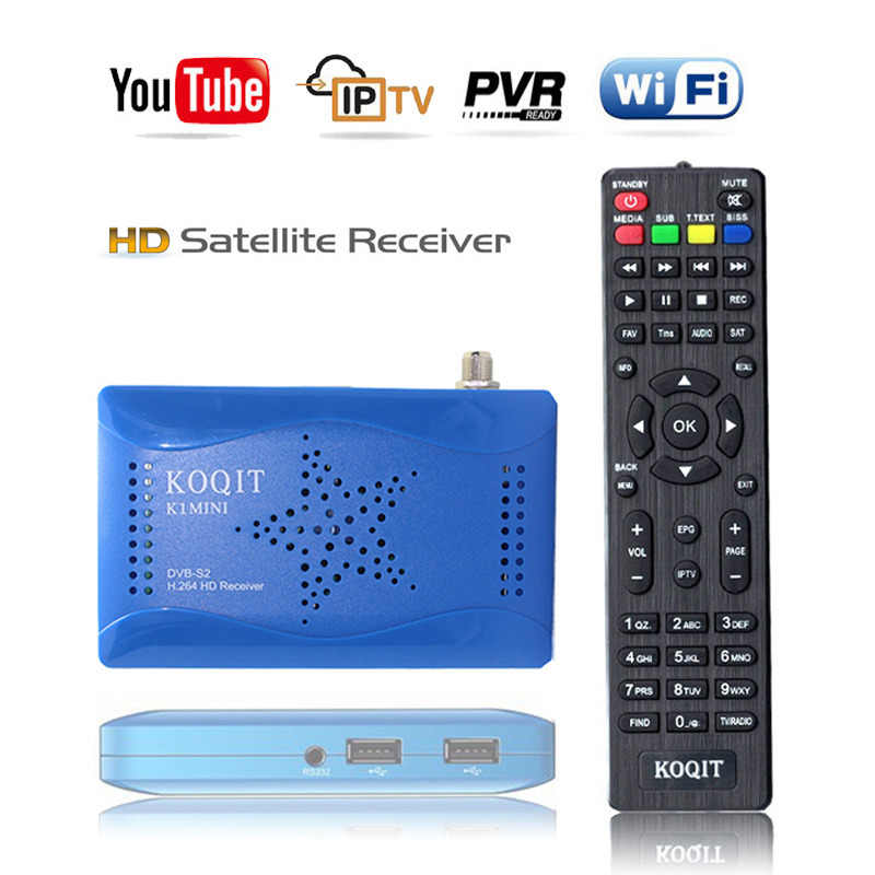 Koqit 1080P DVB-S2 T2-MI Tuner HD Recettore DVB-S2 Ricevitore Satellitare Finder Digital TV Box Wifi Youtube Truffa/Biss chiave Vu Decoder