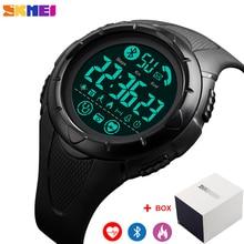 SKMEI Digital Men Wristwatch Bluetooth Heart Rate Smart Clock Fitness Pedometer Calories Wa