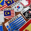 1 шт. Автомобильная наклейка s алюминиевый флаг Автомобильная наклейка s флаг щит Наклейка 3D Автомобильная наклейка верхнее украшение автом...