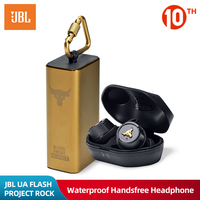 JBL UA FLASH PROJECT ROCK Ture Wireless Earphone Bluetooth Sport Earbuds Waterproof Headphone Handsfree Call with Mic Charge Box