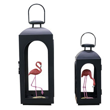 European-Style Chinese Retro Candle Holder Outdoor Courtyard Floor Wind Lamp Horse Light Wrought Iron Glass Portable Lamp 50X189 european style retro candle lights wood glass iron