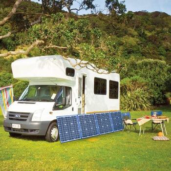 flexible solar panel foldable 200w 18v 12v charger home kit portable outdoor 5v usb for phone RV car battery camping travel 6