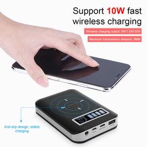 4x18650 Батарея DIY Qi Беспроводной Зарядное устройство Тип USB C быстрой зарядки PD Мощность банка в форме раковины чехол для мобильный телефон ваш мобильный телефон или планшет, даже во время отдыха на природе        АлиЭкспресс