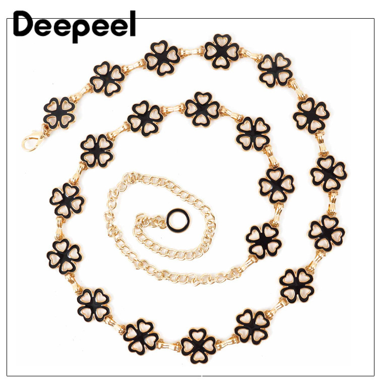 Deepeel 1pc 3cm*100-135cm Women Personality Metal Thin Cummerbunds Shinny Pendant Decorative Waist Chain For Dress Shirts CB652