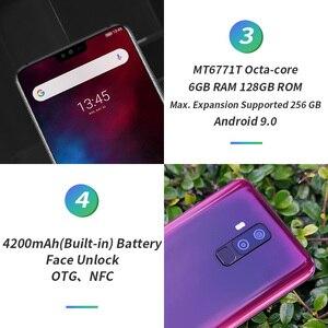 Image 4 - Ulefone T2 6.7 FHD + Helio P70 6GB 128GB Smartphone çift 4G parmak izi yüz kimlik NFC android 9.0 cep telefonu 4200mAh