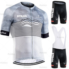 STRAVA Cycling Jersey Suit Men Short Sleeve Cycling Sweatshirt 2021 Premium Quick-Dry Summer Breathable Team Cycling Clothing