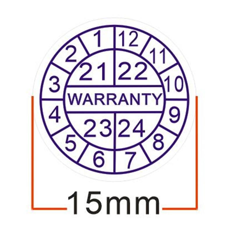 500 шт./лот гарантия на герметичную этикетку, наклейка для свежести, аннулированная при повреждении, с годами и месяцами, диаметр 15 мм, бесплат...