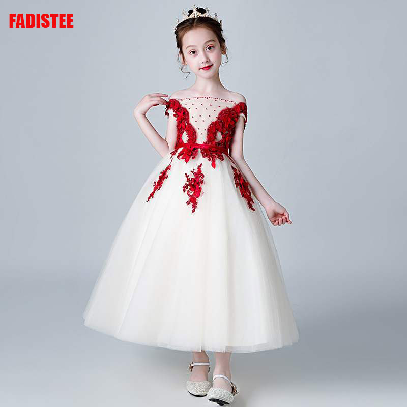 New Arrival Pretty   Flower     Girl     Dresses   3D-floral lace Baby   Girl     Dress   beading crystal sweet style   dresses   wedding guest   dress