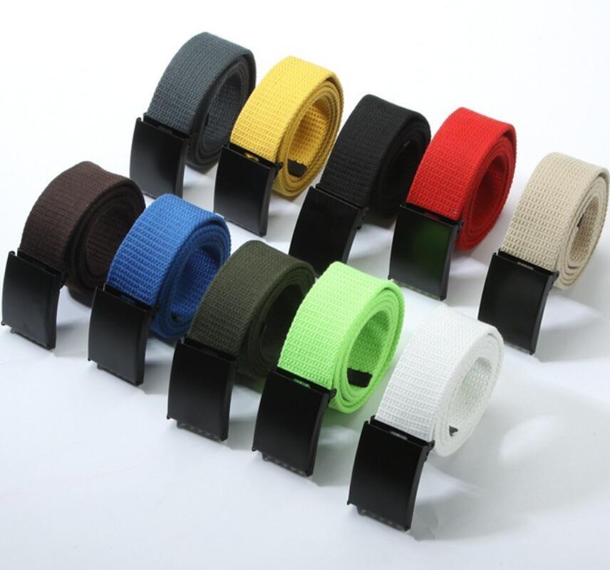 Men Belts 2020 Fashion Unisex Army Tactical Waist Belt 3.8cm Canvas Belt Luxury Canvas Webbing Waistband Outdoor Sports Belt