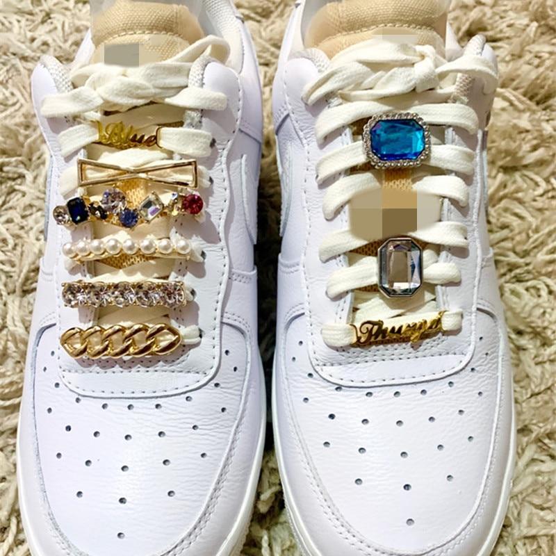 Boucle de chaussure en strass pour femmes, baskets pour bébés filles, Bijoux en cristal, étiquette de chaussure en or, attache de chaussure en perle, décorations de chaussures, cadeau de Bijoux