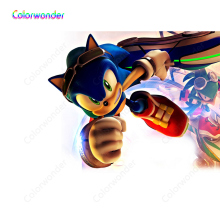 White Background Comic Character Blue Hedgehog Sonic Waering Sunglasses