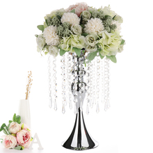 Crystal Bead Curtain Rotating Mermaid Candlestick Flower Bracket Vase Wedding Props Romantic Party