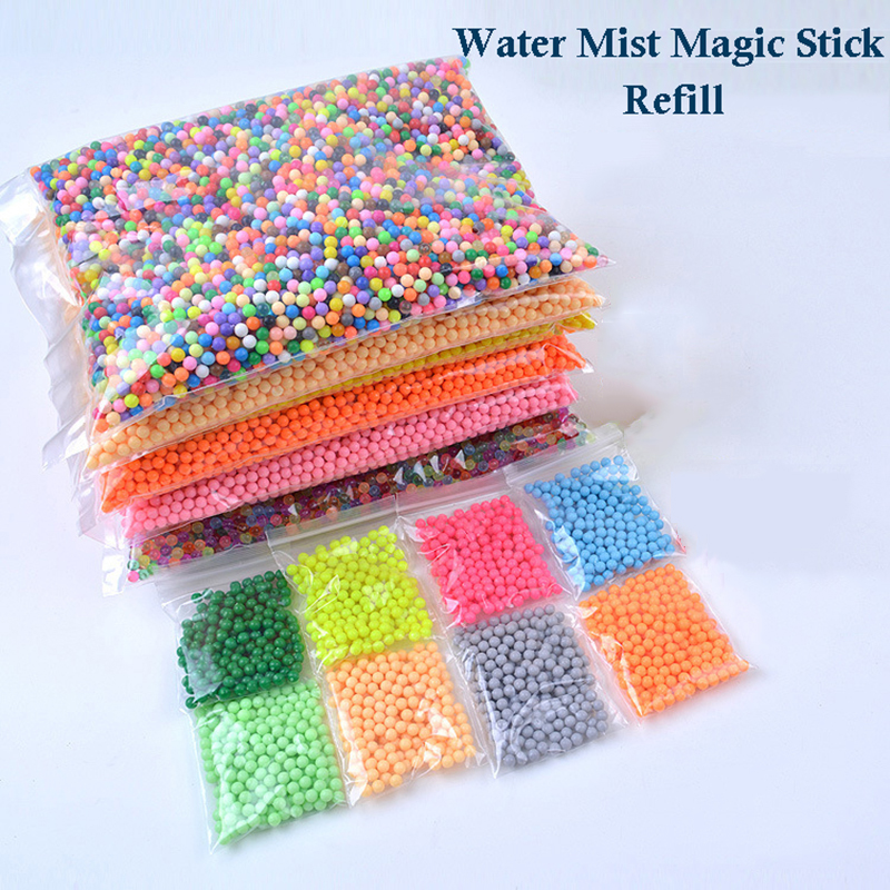 Bulk Water Mist Beads Water Dew Beads Children's DIY Educational Toy Water Stick Magic Beads Water Beans Toys for Children