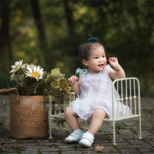 2021 Children's photography clothing prop bed newborn baby photo iron bed baby full moon photography fashion props