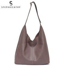 SC จริงหนัง Hobo กระเป๋าสำหรับผู้หญิงหญิงไหล่กระเป๋าหนังแท้กระเป๋าถือสุภาพสตรีกระเป๋าถือขนาดใหญ่กระเป๋าถือ Crossbody