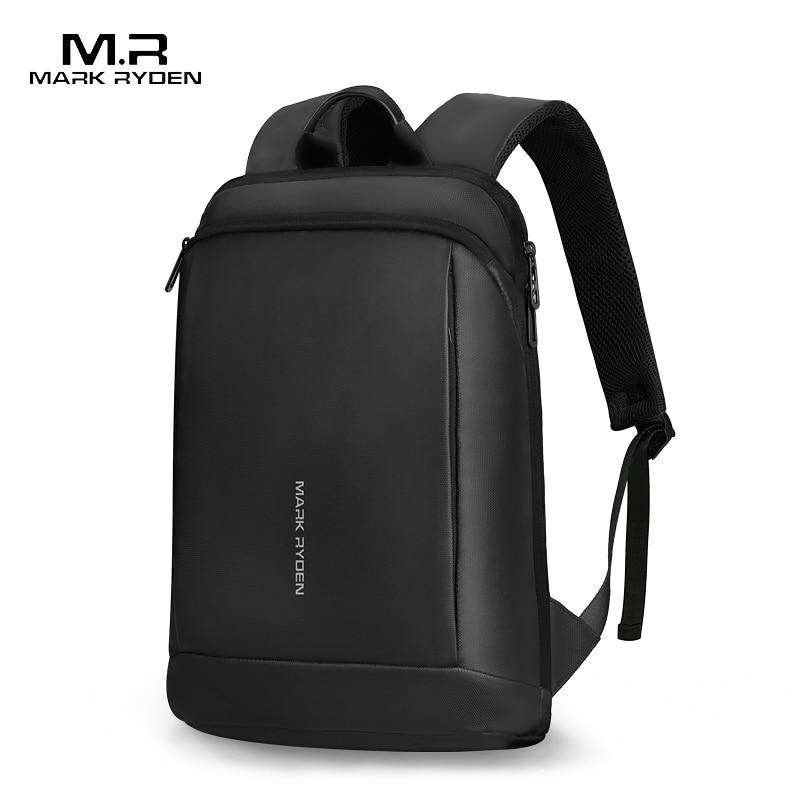 Mark Ryden Slim Laptop Backpack Men Thin Back Pack 15.6 Inch Work Man Backpack Business Bag Unisex Black Ultralight Backpack