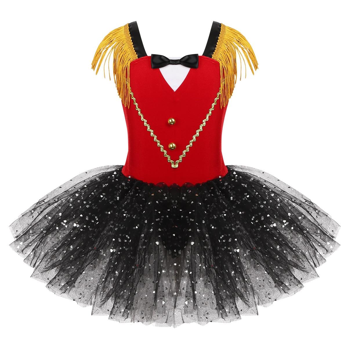 Toddler Ballet Dress Girls Leotard Dance Sequins Tutu Skirts Performance Costume