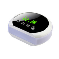 4 Colors Clear Digital Time Temperature LED Display Mirror Multifunction Electronic Easy Control Snooze Alarm Clock for Home