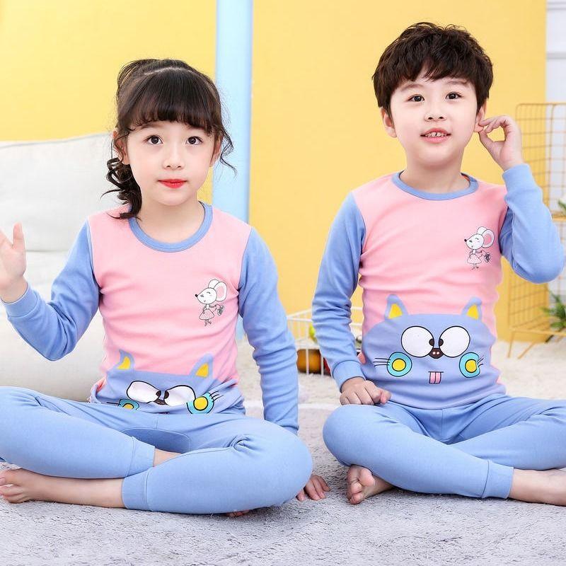 2020 Winter Children Christmas Pajamas Boys Cotton Nightwear Baby Girl Clothes Suit Cartoon Pyjamas Kids Pijama Infantil Teenage 5