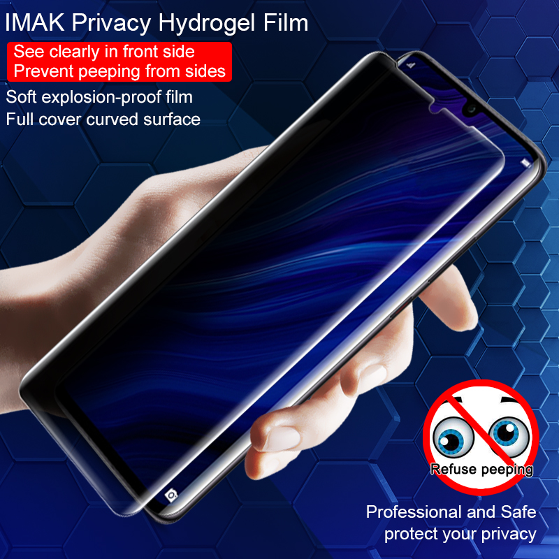 Imak Privacy Hydrogel Film Support Ultrasound Fingerprint Recogniton for Huawei P30 Pro Soft explosion proof Anti Glare film|Phone Screen Protectors| |  - title=
