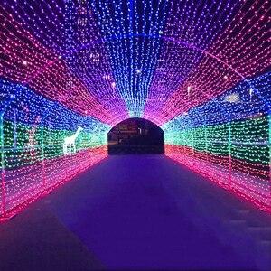 Image 5 - 50M/400 100M/600 LED 요정 LED 문자열 빛 야외 방수 AC220V 휴일 문자열 화환 크리스마스 결혼식 파티