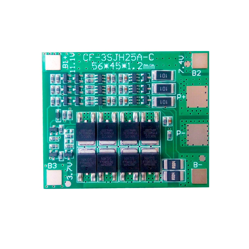 <font><b>3S</b></font> 25A BMS 18650 lto Li-ion <font><b>Battery</b></font> Balance protection Board 18650 Lipo PCM <font><b>Battery</b></font> equalizer Circuit Cell <font><b>Pack</b></font> Balancer Module image