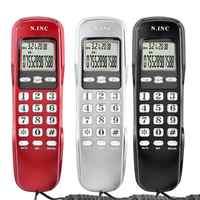 Mini Telefon Wand Wired Telefon DTMF/FSK Dual System Anrufer ID Display Home Office Hotel Festnetz Telefon Telefon haus telefones