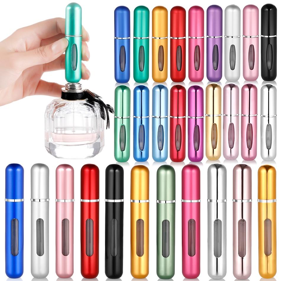 5ml/8ml Portable Mini Refillable Bottles Perfume Spray Bottle Aluminum Atomizer Spray Bottle Travel Container Perfume Bottle