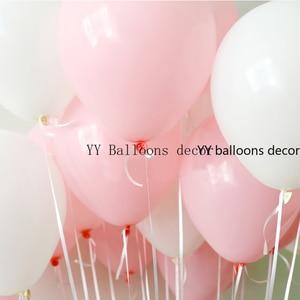 Image 3 - Globo de color blanco y rosa Pastel para bebé, juego de arco de macarrón, boda, despedida de soltera, fiesta, fondo, decoloración, pared, orgánico, 1